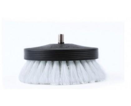 Щетка-насадка на дрель для чистки текстиля мягкая - Pneumatic Carpet Brush White, SGCB, 90мм