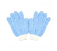 Dust interior glove Бесшовные перчатки из м/ф для нанесения восков и уборки в салоне, синий