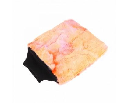 Color-pop wash mitt (20x25cm) Профессиональная плющевая рукавица для мойки, оранжевая