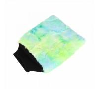 Color-pop wash mitt (20x25cm) Плющевая особо-мягкая рукавица для мойки, зеленая