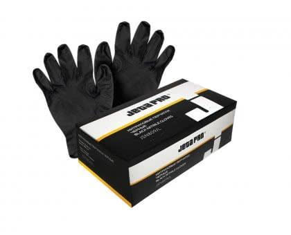 Перчатки нитриловые черные размер XL JETAPRO, 100 шт/упак, длина 240мм, толщина 0,12мм