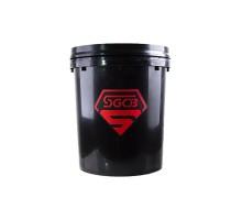 Ведро для мойки автомобилей без сепаратора SGCB (с ободом), 20 л, черное