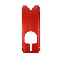 Держатель полировальных машинок, настенный, пластик, красный 60*25,5*9,5 см