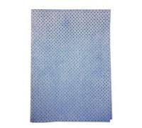 Замша перфорированная KOREA , синяя, 50*40