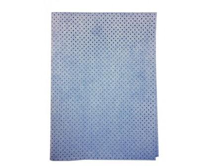 Замша перфорированная Vortex , синяя, 50*40