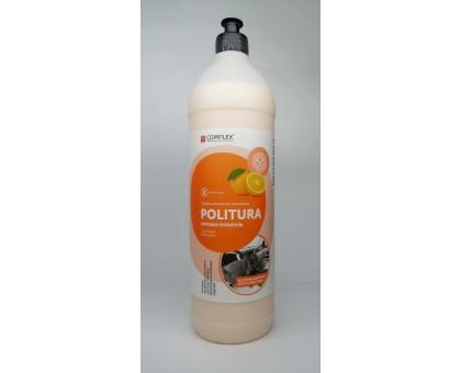POLITURA Апельсин - Матовая полироль-очиститель для пластиковых,виниловых и кожаных изделий, 1л