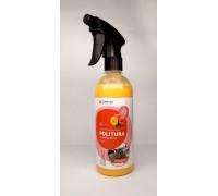 POLITURA Персик - Матовая полироль-очиститель для пластиковых,виниловых и кожаных изделий, 0,5л