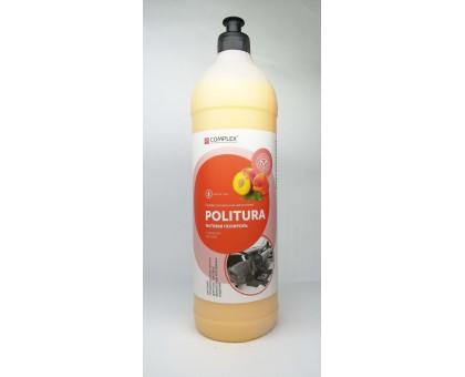 POLITURA Персик - Матовая полироль-очиститель для пластиковых,виниловых и кожаных изделий, 1л