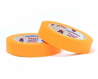 Лента маскирующая оранжевая Eurocel 25 мм х 40 м 80 Со - 30 мин