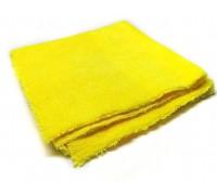 Микрофибра без оверлока односторонняя 40*40см, 380 гр/м2 желтая