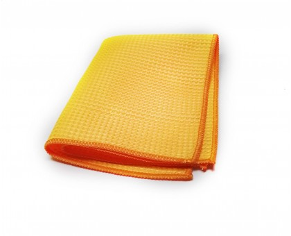 Микрофибра вафельная для стекол 30*40см, 300 гр/м2 оранжевая