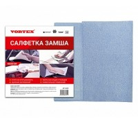 Замша салфетка Vortex , синяя, 50*40