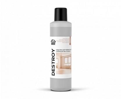 DeStroy - кислотное низкопенное моющее средство для уборки после строительства и ремонта, 1л