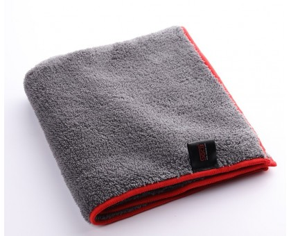 Microfiber Plush Towel - микрофибра с оверлоком для полировки 40*40см 600 г/м2 серая